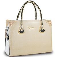 手提包女士包包新款女包甜美淑女亮面漆皮珠光果冻包定制