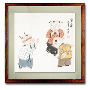美术家协会会员 姜晓英《童乐》50cmx50cm