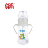婴幼儿PP奶瓶240ml带柄自动吸管奶瓶宝宝防呛宽口径A91 图案随机