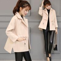 毛呢外套女短款2017春装新款韩版小个子女装修身显瘦矮个子呢大衣