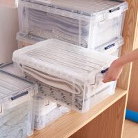 桑代大号加厚收纳箱透明有盖塑料整理箱子装衣服被子杂物储物箱