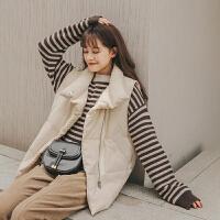 短款马甲2019冬季新款女韩版宽松复古学生洋气百搭棉衣厚外套
