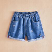 女童牛仔短裤薄款夏季牛仔裤儿童夏装裤子外穿