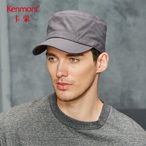 卡蒙黑色鸭舌帽爸爸帽子冬季平顶帽中老年帽子男户外短檐鸭舌帽2642