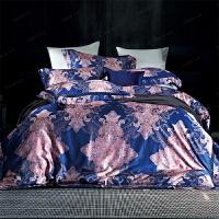 家纺欧式床上用品全棉四件套埃及长绒棉双人床上样板间被套 床单四件套