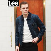 Lee男装 2017秋冬新品商场同款羊羔绒复古洗水长袖牛仔夹克L295762236PF