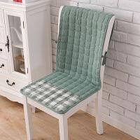 椅子坐垫靠垫一体四季餐桌椅垫椅套套装滑连体座椅垫办公室棉T