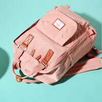 妈咪包多功能大容量母婴包外出妈妈包时尚双肩包孕妇包包小号轻便 标准版 粉色
