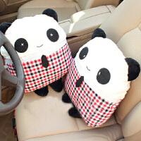 熊猫先生汽车腰靠垫 汽车抱枕 卡通抱枕 车家两用创意抱枕