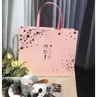 手工阿�z糕包�b盒子粉色�Y品盒一斤�b500g��意半斤高端定制