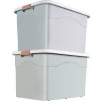 2个装特大号衣服收纳箱塑料整理箱衣物储物箱子加厚收纳盒储蓄箱