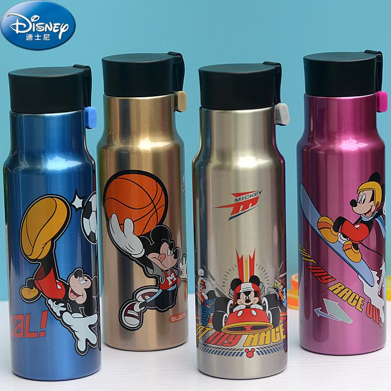 迪士尼小学生保温杯男儿童304不锈钢个性水壶便携杯子女童