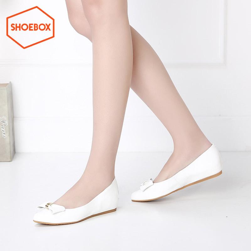 达芙妮旗下shoebox鞋柜/苹绮 休闲套脚单鞋女 蝴蝶结套脚单鞋
