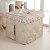 加厚夹棉电炉烤火罩欧式 长方形茶几罩套电暖炉取暖被套麻将机罩