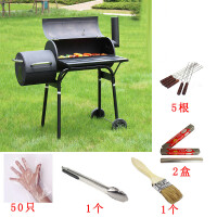 户外烤炉美式BBQ焖烤烟熏烧烤架 花园家用庭院别墅加厚木炭烧烤炉