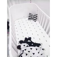 新生儿纯棉纱布床单婴儿床笠宝宝纱布床罩婴儿圆床椭圆床床垫套