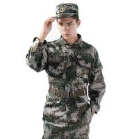 新款 迷彩服户外迷彩服男套装cs真人沙漠野战军训迷彩服特种兵战术服作训服 透气不闷