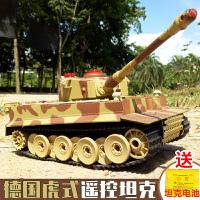遥控坦克玩具履带式金属可发射儿童对战坦克模型电动越野车