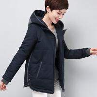 中年女装冬装棉衣40-50岁2017新款修身显瘦妈妈装加大码加厚外套