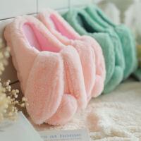 棉拖鞋女冬季可爱情侣家居用室内男防滑厚底保暖包跟儿童毛毛月子