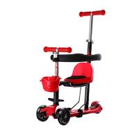 儿童滑板车可坐可推1到12岁宝宝滑滑车多功能四合一小孩推车 +护栏