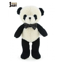 抱抱熊猫公仔抱抱熊毛绒玩具枕大号黑白布玩偶娃娃礼物送女友 黑