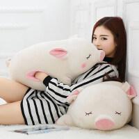 可爱猪公仔布娃娃睡觉抱枕韩国搞怪毛绒玩具趴趴猪女孩生日礼物萌