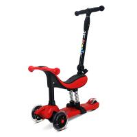 儿童三合一滑板车四轮闪光1-3岁男孩女孩初学者可坐