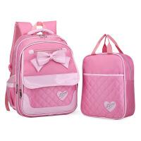 韩版可爱公主儿童书包小学生1-3-4-6年级粉色蝴蝶结女生护脊减负