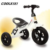 儿童三轮脚踏车婴儿玩具车充气轮1-2-3-4岁自行车