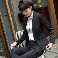 新款职业装女装套装时尚工装西服女黑色西装ol面试正装工作服秋冬 +裤子