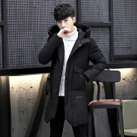 棉衣男冬季韩版修身潮流棉袄男士外套加厚保暖中长款冬天学生棉服