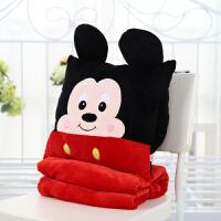 卡通可爱龙猫抱枕靠垫被子两用暖手捂办公室三合一空调毯生日礼物