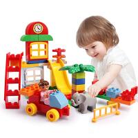 儿童益智积木玩具1-2-3-6-8周岁大颗粒场景拼装插塑料