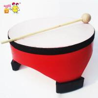 幼儿园儿童聚酯皮敲鼓 学生敲鼓手鼓奥尔夫乐器8寸地鼓