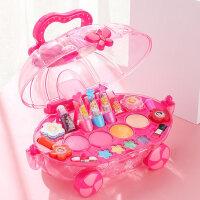 迪士尼儿童化妆品公主彩妆盒套装无毒小女童女孩玩具指甲油口红车