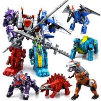 儿童男孩玩具变形恐龙金刚4霸王龙模型合体战队修罗王套装机器人