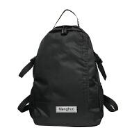 潮牌日系双肩包男女大容量学生书包帆布背包运动户外轻便旅行包潮
