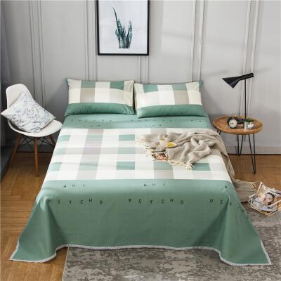 老粗布床单单件纯棉加厚双人被单全棉布1.5米1.8m床