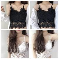 韩版蕾丝吊带背心女修身短款防走光美背打底外穿内衣