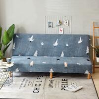 折叠沙发床套沙发垫包无扶手双人1.5三人1.8m弹力沙发套子J 灰色 雪松 长度范围150~190cm均可