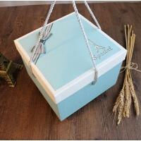 母节精美加大号正方形礼品盒手提礼物盒零食水果衣服包装盒