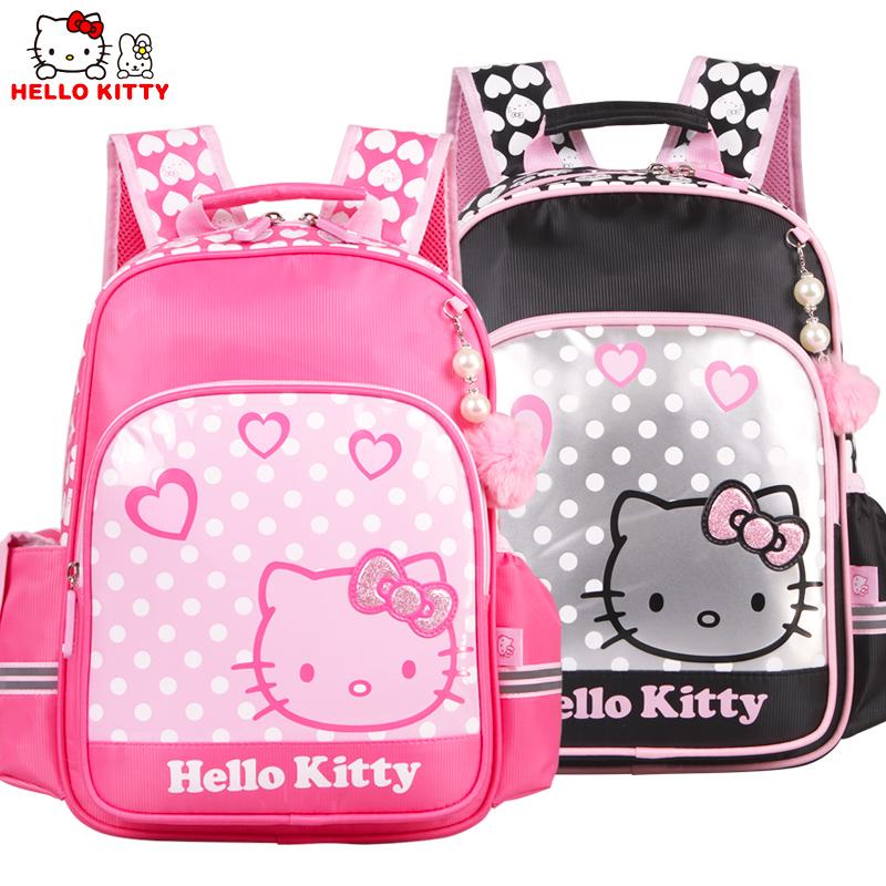 HelloKitty凯蒂猫女童卡通书包小学生1-3年级双肩卡通书包KT0018
