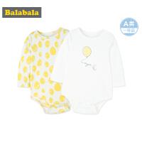 巴拉巴拉新生儿连体衣男婴儿爬爬服家居服宝宝哈衣衣服秋装长袖女