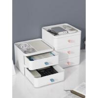 办公桌面收纳盒塑料纸巾盒抽屉式收纳柜书桌上学生文件杂物置物架