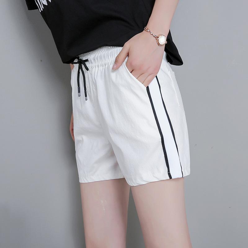 新款运动短裤女夏季韩版宽松学生中腰休闲百搭松紧腰热裤