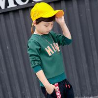 童装男童t恤2017冬装韩版英文字母长袖加绒打底衫儿童t恤卫衣