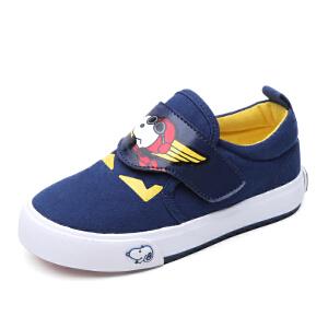 史努比童鞋男童帆布鞋儿童布鞋新款中小童休闲鞋百搭板鞋