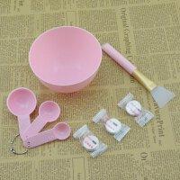 面膜刷子制作工具美容调面膜粉碗硅胶量勺敷面软毛扫套装diy 硬塑料碗 硅胶刷 量勺 纸膜(粉)