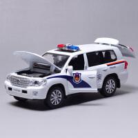 小汽车模型儿童玩具合金丰田大众公安警车声光回力开门